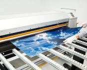 Skylens™ Fluorescent Light Diffuser - Sun Beams Decorative Light Cover - 2' x 4'': Panel Being Printed At SBL!