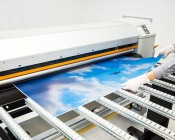 Skylens™ Fluorescent Light Diffuser - Jet Set Decorative Light Cover - 2' x 4'': Panel Being Printed At SBL!