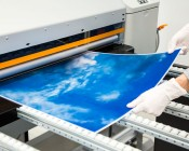 Skylens™ Fluorescent Light Diffuser - Summer Sky Decorative Light Cover - 2' x 2'': Panel Being Printed At SBL!