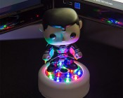 Sound Activated RGB LED Stick-Up Lights: Placed on Desk as Accent Light