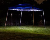 Portable Canopy Tent LED Lighting Kit: Installed in EZ Up Tent