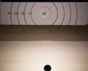 30 Watt Knuckle-Mount LED Spotlight - Bullet Style - 2,900 Lumens: Beam Pattern Shots 25 feet Away From Target