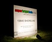 30 Watt Knuckle-Mount LED Floodlight - Bullet Style - 2,900 Lumens: Light Output On SuperBrightLEDs Sign
