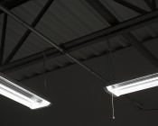 """Interconnect Cable for 4' Linkable LED Shop Light/Garage Lights - 54"""": 90 Degree Connection"""
