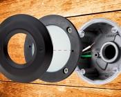 12V LED Deck Lights - Window Round Deck Accent Light with Faceplate - 95 Lumens: Taken Apart