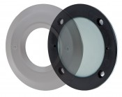 12V LED Deck Lights - Window Round Deck Accent Light with Faceplate - 95 Lumens