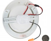 "7"" Flush Mount LED Ceiling Light - Dimmable LED Disk Light - 110 Watt Equivalent - 1,100 Lumens: Back View"