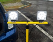 Dual Head Portable LED Work Lights with Tripod Stand - 3,600 Lumens: Showing LED Grouping.