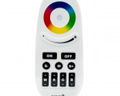 Smartphone or Tablet WiFi Compatible RGB+White Auto Sync Controller w/ RF Remote: Front View Of Remote