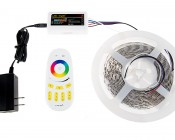 Smartphone or Tablet WiFi Compatible RGB+White Multi Zone Controller w/ RF Remote - Dynamic Color-Changing Modes - 6 Amps/Channel: Connected