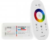 Smartphone or Tablet WiFi Compatible RGB Controller w/ RF Touch Color Remote - Dynamic Color-Changing Modes
