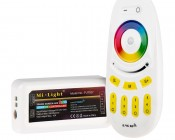 Smartphone or Tablet WiFi Compatible RGB Multi Zone Controller w/ RF Remote - Dynamic Color-Changing Modes