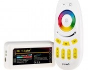 Smartphone or Tablet WiFi Compatible RGB+White Multi Zone Controller w/ RF Remote - Dynamic Color-Changing Modes - 6 Amps/Channel