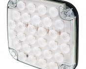 """Square LED Truck and Trailer Light - 6-1/2"""" LED Reverse Light w/ 30 High Flux LEDs - Pigtail Connector"""