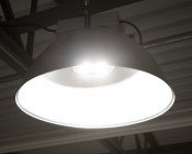 LED Retrofit Kit for 320W MH Fixtures: Shown Installed In Low Bay Light Fixture.