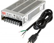 Mean Well LED Power Supply - SP Series 100W Enclosed Power Supply with Built-in PFC - 12V DC - Refurbished