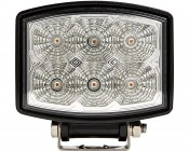 """4-1/2"""" Square 10W High Powered LED Work Light: Front View"""
