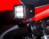 """3"""" Square 12 Watt LED Mini Auxiliary Work Light: Installed On ATV"""