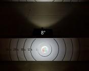 "3"" Square 12 Watt LED Mini Auxiliary Work Light: 8° vs 90° Beam Pattern On Target From 30 Feet Away"