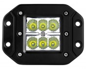 "3"" Square 18 Watt LED Mini Auxiliary Work Light - Flush Mount: Front View"