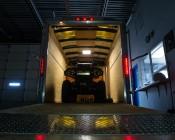 Square LED Panel Light - 12V LED Task Light - 1ft x 1ft: Shown Installed In Trailer And Illuminating ATV.