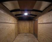 Square LED Panel Light High Voltage Kit - Vehicle and Trailer 12V LED Task Light - 6in x 6in - 412 Lumens: Shown Installed In Trailer.