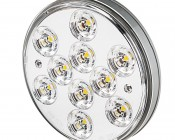 "Round LED Back-Up Truck Trailer Light - 4"" LED Reverse Light w/ 10 SMD LEDs - 3-Pin Connector"