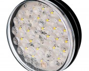 """Warm White Round LED Back-Up Truck and Trailer Light - 4"""" LED Reverse Light w/ 30 LEDs - 3-Pin Connector"""