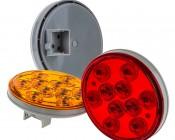 "Round LED Truck Trailer Lights - 4"" LED Stop Turn Tail Light w/ 10 High Flux LEDs"