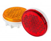 """Round LED Truck Trailer Light with Reflector - 4"""" LED Stop Turn Tail Light with 40 LEDs"""