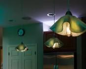 ST18 LED Filament Bulb - 60 Watt Equivalent LED Vintage Light Bulb - Dimmable - 700 Lumens: Installed in Kitchen Decorative Light Fixture