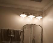 ST26/ST64 LED Filament Bulb - 65 Watt Equivalent LED Vintage Light Bulb - Dimmable - 650 Lumens: Installed In Vanity Fixture