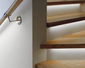 LED Linear Light Bar Fixture: Shown Installed As Stair Tread Accent Light In Natural White.