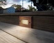 12V LED Deck Lights - Window Rectangular Deck Accent Light with Faceplate - 55 Lumens