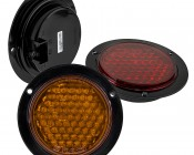 """Round LED Truck Trailer Light with Built In Flange - 4"""" LED Stop Turn Tail Light with 61 LEDs: Available In Red, Amber, & White"""