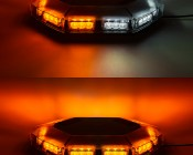 Magnetic Mounted Emergency LED Light Bar with Toggle Adapter - 360 Degree Strobing LED Mini Lightbar: Turned On Showing Light Output