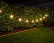 Outdoor LED Decorative String Lights - 10 Pendant Sockets - Fits E26 Bulbs: Shown With ST18D-x9DF (Sold Separately) Installed.