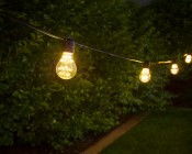 Outdoor LED Decorative String Lights - 10 In-Line Sockets - Fits E26 Bulbs: Shown With A19D-x2FW (Sold Separately) Installed.