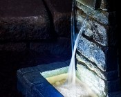 Submersible LED Accent Light w/Remote: Placed At The Bottom Of The Fountain