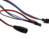 SWDC series Dream-Color Flexible RGB LED Strip - 12 Volt DC: Close Up View Of Connectors
