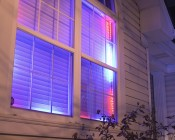 SWDC series Dream-Color Chasing RGB Controller: Installed In Window As Christmas Lighting