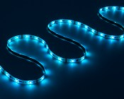 SWDCK-RGB150 - Universal Waterproof Color Chasing RGB LED Light Strip Kits - LED Tape Light with 9 SMDs/ft., 3 Chip RGB: On Showing Various Modes.