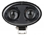 Blue LED Safety Light w/ 2° Square Beam Pattern: Front View