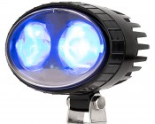 Blue LED Safety Light w/ 2° Square Beam Pattern: Store Photo