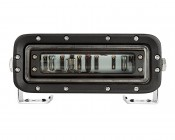 Red LED Safety Light w/ Horizontal Line Beam Pattern: Front View