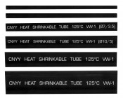 """Single Wall Heat Shrink Tubing - 6"""" Long: Showing Lengths of Each Size with Printed Spec Information"""