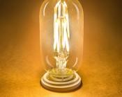 LED Vintage Light Bulb - T14 Shape - Radio Style LED Bulb with Filament LED