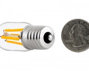 T22 LED Replacement Bulb for WB36X10003 and other Microwave Light Bulbs: Back View with Size Comparison