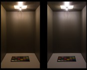 T22 LED Replacement Bulb for WB36X10003 and other Microwave Light Bulbs: Warm White Bulb (Left) - Natural White Bulb (Right)