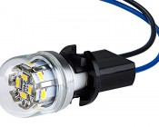 T3.25 Base Wired Socket: Shown With LED Bulb (Bulb Not Included)